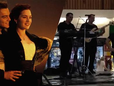 Band Plays Theme From 'Titanic' as Shopping Mall Floods