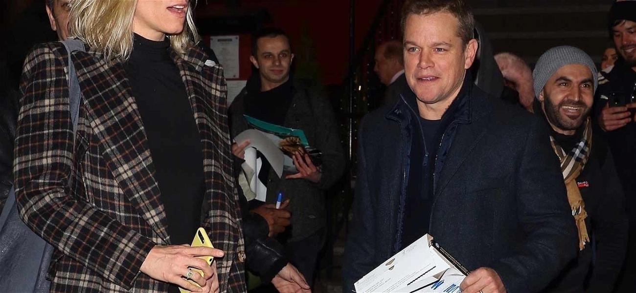 Matt Damon Hangs With Ben Affleck's Ex-GF During 'SNL' Rehearsals