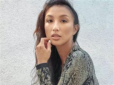 Ex-'DWTS' Jeannie Mai Sizzles Sunbathing In Plunging Chocolate Swimsuit