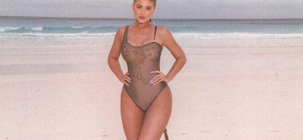 Kylie Jenner Strips Down To Chain Bikini, Plastic Surgery Comments Out Of Control
