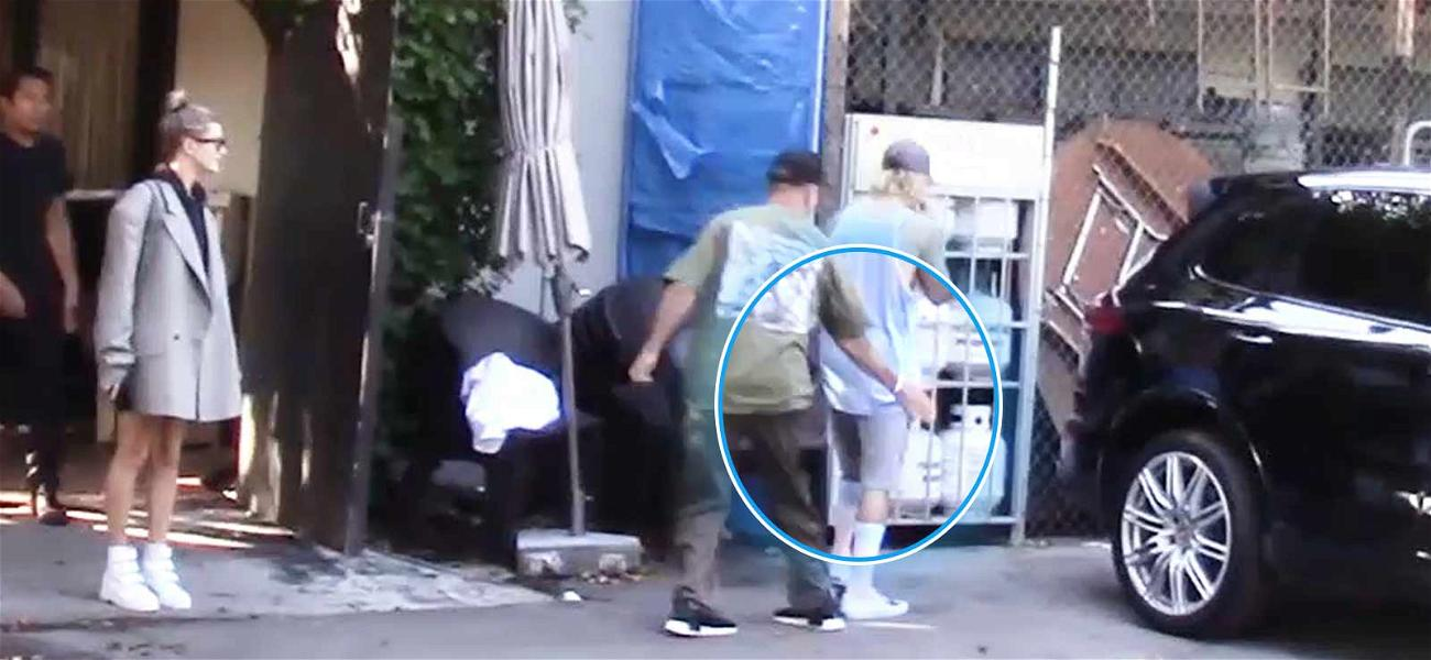 Justin Bieber Gets a Butt Slap From New Father-In-Law