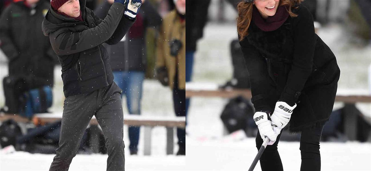 The Duke and Duchess of Cambridge Hit the Ice in Sweden