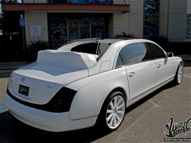 Tyga's Custom Convertible Maybach Up for Sale to the Highest Bidder