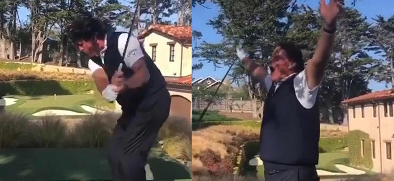 Phil Mickelson Drops Amazing Hole-in-One in Jim Nantz's Backyard
