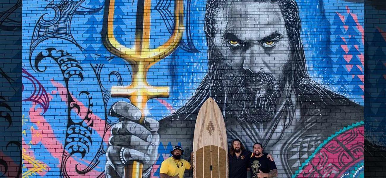 Jason Momoa Invites 'Aquaman' Mural Artists to Australian Movie Premiere