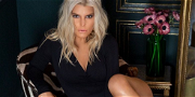 Jessica Simpson Is A Dime Piece In Cleavage-Baring Xmas Shot
