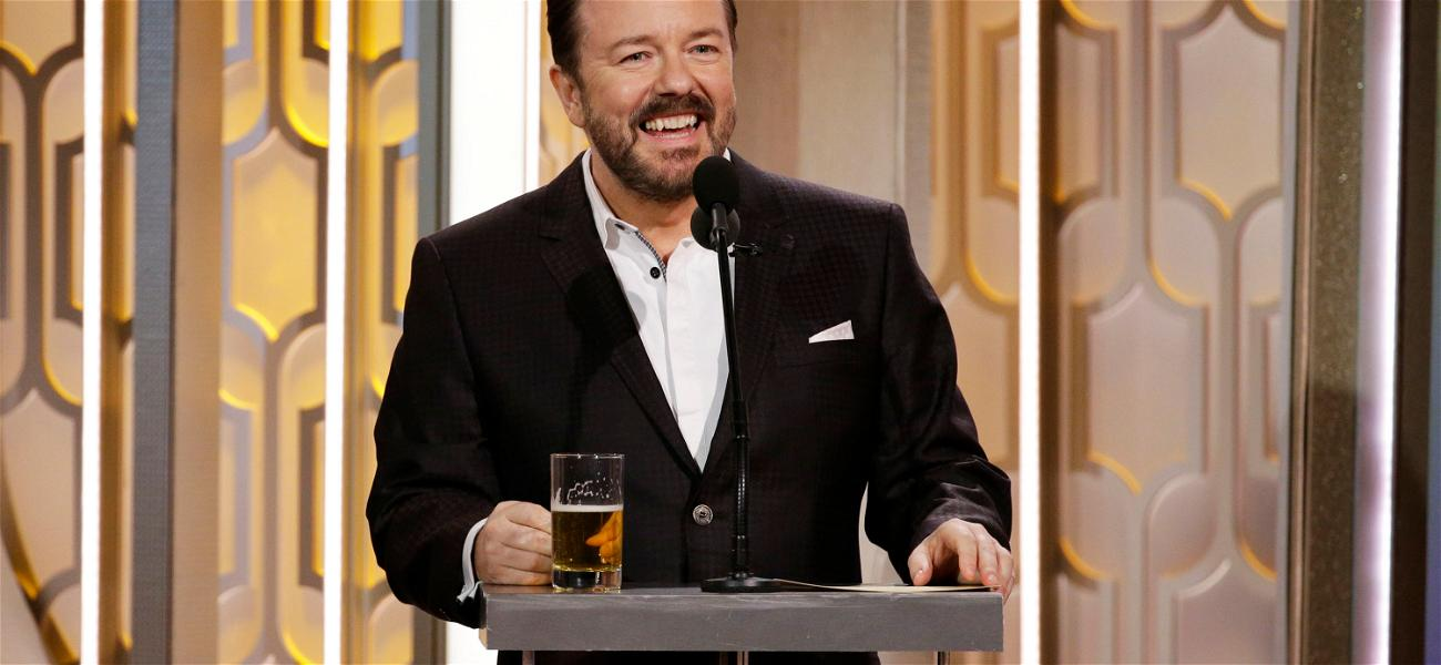 Ricky Gervais Back At It Again with Opening Golden Globes Monologue, Controversy Abounds