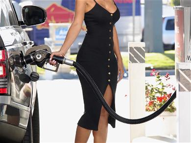 Nicole Murphy Sizzles While Pumping Gas