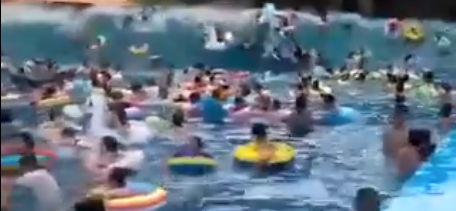 A Wave Machine Created A Terrifying Tsunami That Injured Dozens Of Swimmers