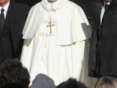 John Malkovich on Set 'The New Pope'