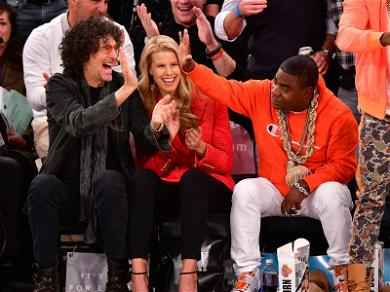 Howard Stern Admires Tracy Morgan's Flashy Chains During the Knicks Game