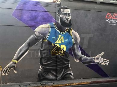 Los Angeles Lakers Mural Pops Up With Tribute to LeBron James & Magic Johnson