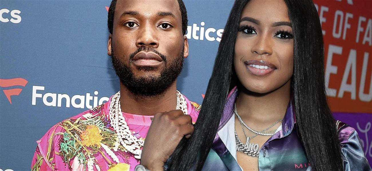Meek Mill & Pregnant Girlfriend Milan Harris Share Sweet V-Day Messages Ahead Of Baby's Birth