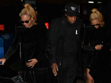 Beyoncé Cradled Her Belly Leaving Dinner With Jay-Z, Pregnancy Speculation Ignited
