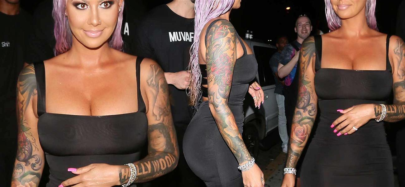 Amber Rose Throws Major Shade … Into Her Hair With the Summer's Hottest Color!