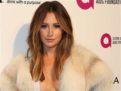 Ashley Tisdale Shimmies Smokeshow Body To Britney Spears In Unbuttoned Crop Top