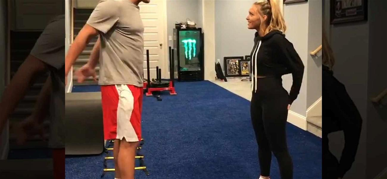 Gronk Helps His Girlfriend Bulk Up Her Butt for Sports Illustrated Swimsuit
