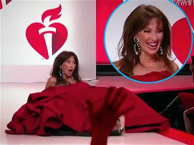 Susan Lucci Recovers Like a Boss After Runway Tumble