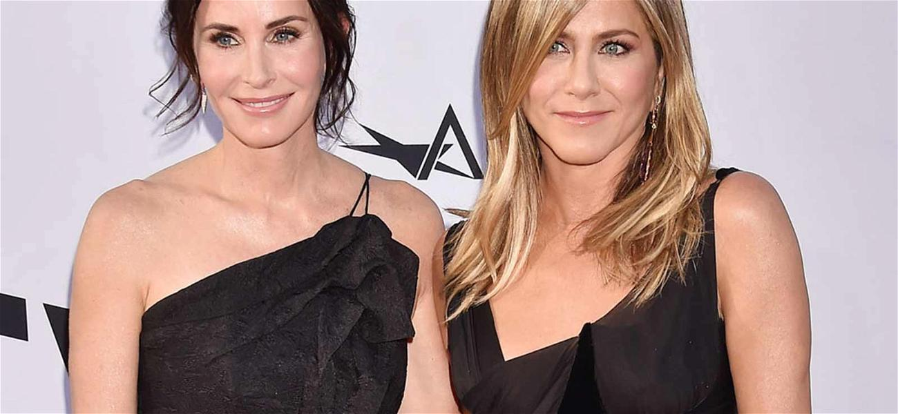 Jennifer Aniston Hits Red Carpet With BFF Courteney Cox for George Clooney Tribute
