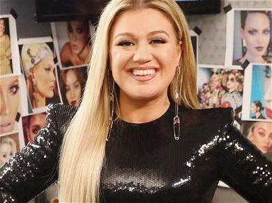 Kelly Clarkson Flaunts Tiny Waist While Chowing Massive Layer Cake
