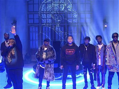 DJ Khaled, Meek Mill and John Legend Pay Tribute to Nipsey Hussle with 'SNL' Performance