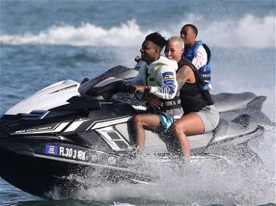 21 Savage and Amber Rose Jet Skiing on Vacation