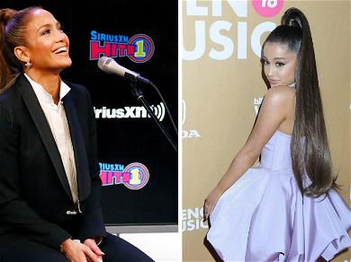 J. Lo Steals Ariana Grande's Signature High Ponytail For Press Day in NYC