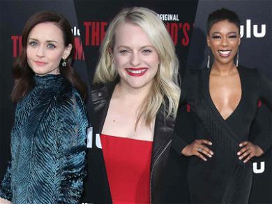 Elisabeth Moss Wears Handmaid Red to 'Handmaid's Tale' Premiere