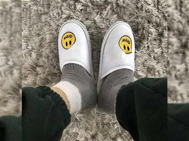 Justin Bieber Gifts Wife Hailey His Own Slippers for Christmas