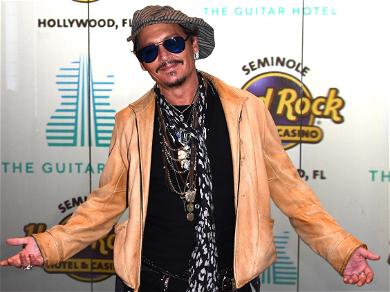 Johnny Depp Rubs Shoulders With Khloé Kardashian, Morgan Freeman After Amber Heard Setback