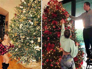 Mariah Carey, J. Lo & the Biebers Have the Best Christmas Trees in Tinseltown! ?