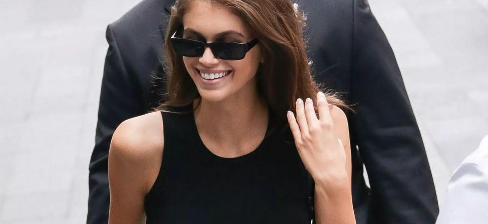 Kaia Gerber's Balance 'Unimaginable' On Yoga Wobble Ball In Spandex Sweat Session