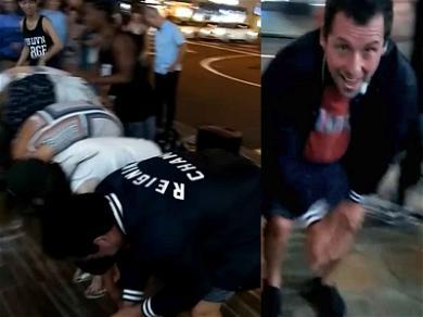 Watch Adam Sandler Participate in a Breakdancer's Hawaiian Street Stunt