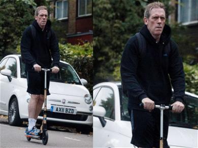 Hugh Laurie Has a Wheelie Good Time in London