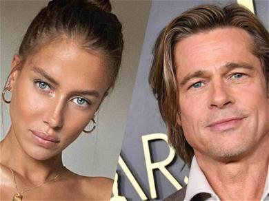 Brad Pitt's 27-Year-Old Girlfriend Nicole Poturalski Seen Together With Husband For First Time In Throwback