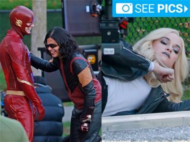 'Flash' Superheroes Slow it Down in Between Shots
