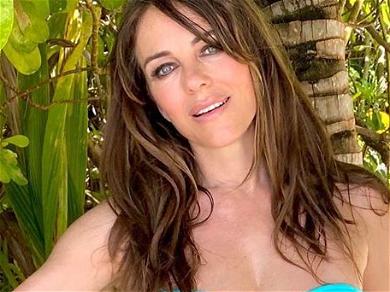 Elizabeth Hurley Spreads 'Em In Skimpy Sunshine Bikini