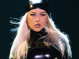 Christina Aguilera Impresses Vegas With Skintight Latex Look