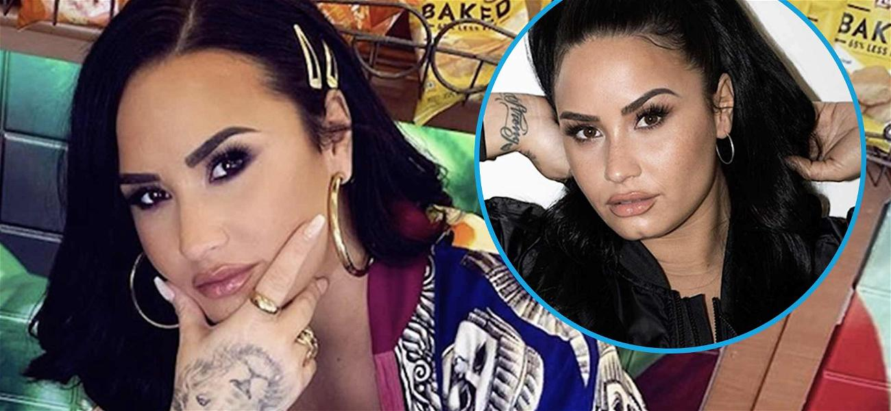 Demi Lovato Snaps Necks With Hot Body In Skintight Workout Gear