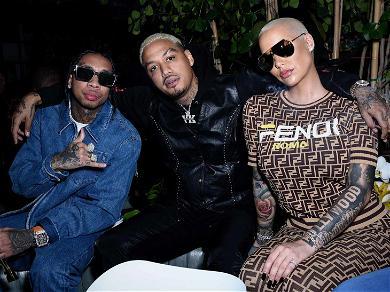Blac Chyna's Baby Daddy & BFF Hang Out at Pre-Grammy Party Amid Rob Kardashian Custody Battle