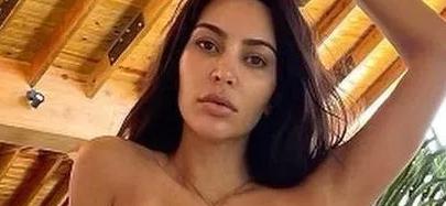 Kim Kardashian Debated While 'Stranded' In Bikini Bottoms