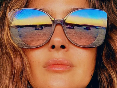 Salma Hayek Brings The Heat With Busty Summer Throwback During Fall Weather
