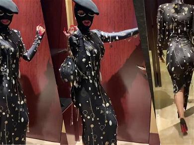Cardi B Has Major Keys In Futuristic Skin-Tight Leather Dress