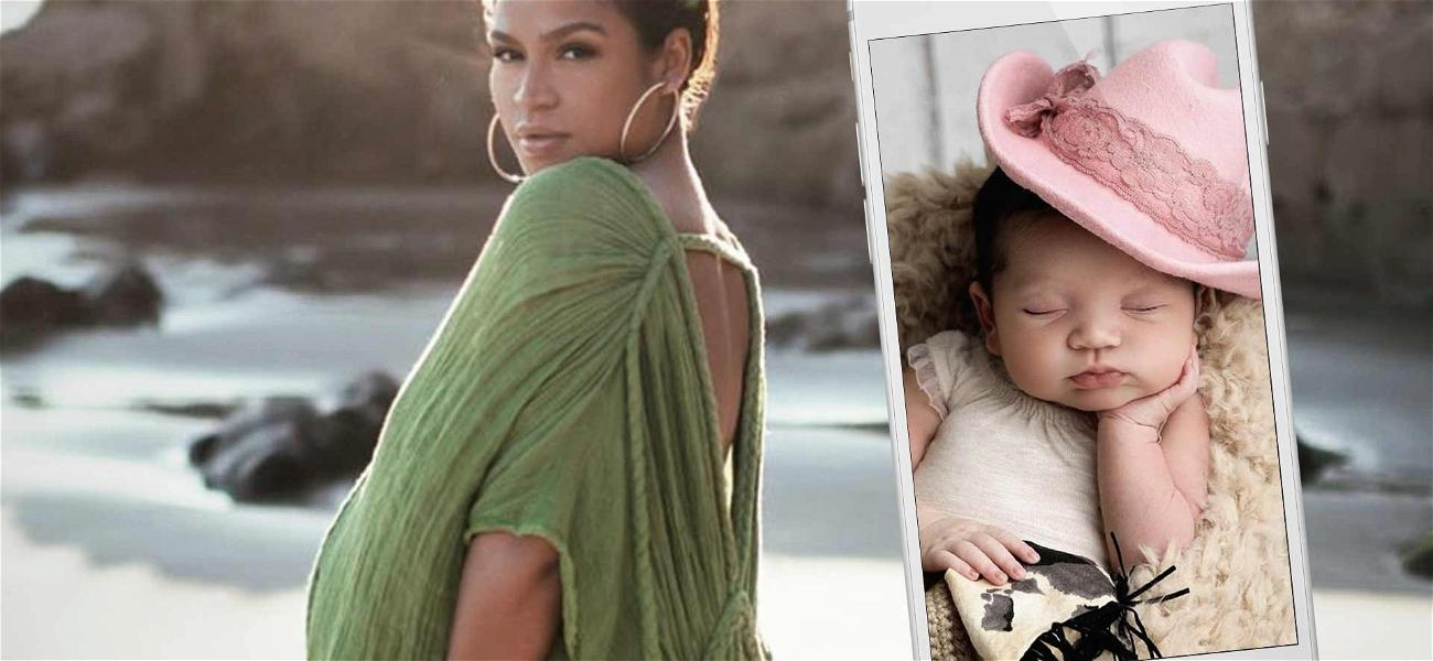 Cassie Shares First Face Shot Of Newborn Daughter & She's Just Like Daddy!