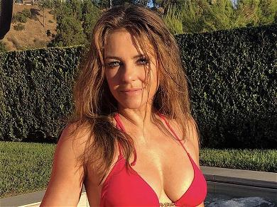 Bikini Bombshell Elizabeth Hurley Claims She Likes To 'Cover Up' As Instagram Swimwear Snaps Continue