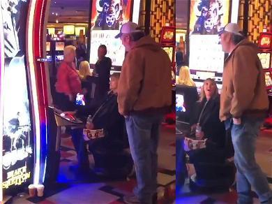 Blake Shelton Surprises Vegas Fan While She's Gambling at His Slot Machine!