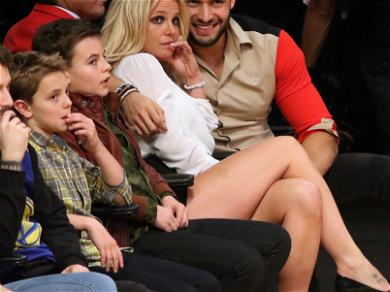Britney Spears Laker Game