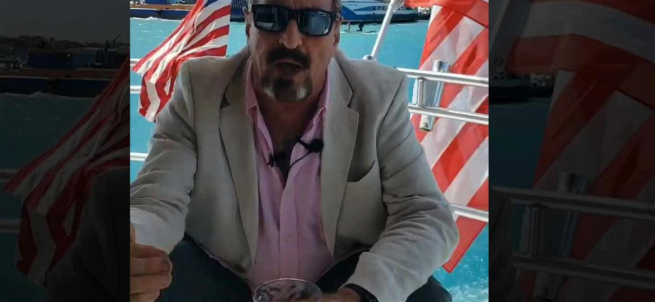John McAfee Announces 2020 Presidential Campaign at Sea While Running from U.S. Government