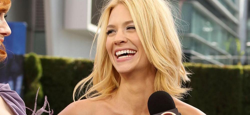 January Jones Dictates Independence Day Rules In Swimsuit With Beer On Instagram
