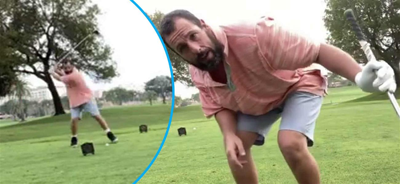 Adam Sandler Hits AN ABSOLUTE BOMB With 'Happy Gilmore' Golf Swing 25-Years Later